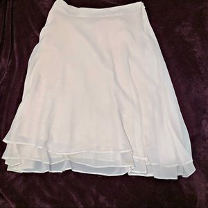BANANA REPUBLIC pale rose/cream A line skirt. 8